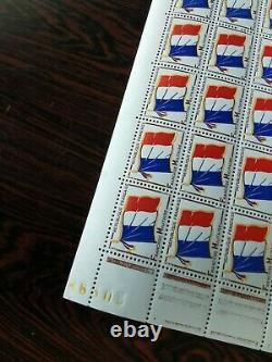 15 French Stamp Boards N° 13 Military Franchise Flag 1964 Neuve
