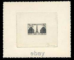 4 Highly Sought-after United Nations Events In Paris 1951 Including One Signed Decaris