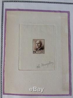 Avo! 869 Settlements Algeria Test Stamp Artist Mazelin Petain 196 1942