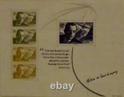 Bloc Sheet Antoine De Saint Exupéry 2021 Print 8000 Copies Only