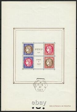 Block-feuillet No.3b, Paris Pexip, Obliterated Off-stamps, New Without Hinge