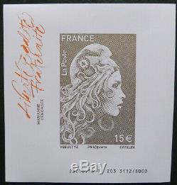 Box 10 Imperforated Sheets Marianne Engaged 2018