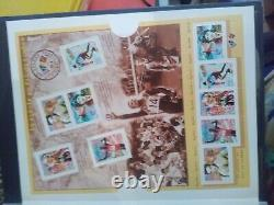 Collection Of Stamps And Canceled Nine French, Airmail, Sheet