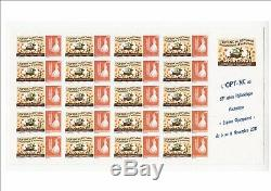 Complete Sheet Of 20 Stamps Custom No 1138 Opt New Caledonia 2011