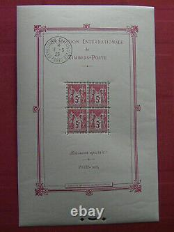 France 1925 Block 1b Expo Paris (pack Excluding Stamps) Rating 3000 See Photos