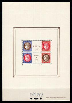 France 1937 Yv. 3 Block Sheet 100% Nine Philatelic Exhibition, Paris
