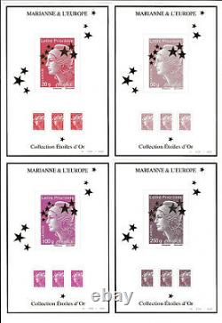France 2012 Box Of 15 Sheets Maxi Marianne Variety On Green Letter Values