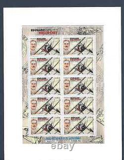 France 2016 Sheet Of 10 Stamps Gum. Edouard Nieuport 1875-1911 Pa. No. F 80