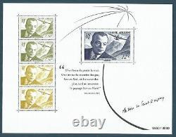 France 2021 Rare Sheet Block Souvenir Sheet Saint-exupéry Writer Aviation Luxury