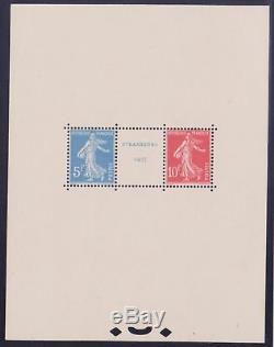 France 2 Block Sheet Exposure Strasbourg 1927 New Luxury Value XX 3500