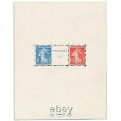 France Bloc No.2 Philatelic Exhibition Strasbourg, Stamps Signed, Nine 1927