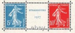France Block Feuillet 2 A Strasbourg 1927 Neuf XX With Expo Cachet. Ttb R524