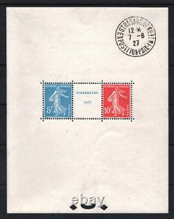 France Block Feuillet 2a Strasbourg 1927 Neuf XX With Exposition Cachet T746