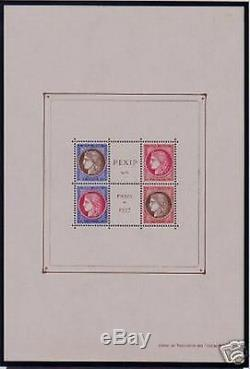 France Block Sheet 3 C Pexip 1937 Without Perforating New Value XX Vf 900