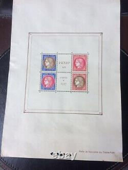 France Block Sheet 3 Pexip Perforation Low Comme Neuf