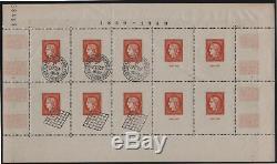 France Block Sheet 5 Citex 1949 Paris New XX Tb Seals And Exhibition T090