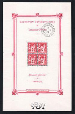 France Block Sheet No. 1 Exhibition Paris 1925 New XX With Stamp Apc T601