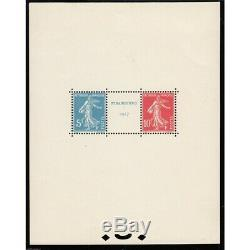 France Block Sheet No. 2 Stamp Exhibition 1927 New Strasbourg Coast