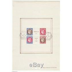France Block Sheet No. 3b Stamp Exhibition Paris 1937 With Stamps Exp