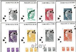 France Maxi Marianne Box Set 15 Sheets Salon 2012 Special Paper Letter Green Letter