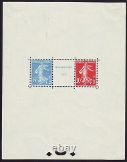France Nouveau Stamp Bloc-feuillet N°2 Expertise Roumet