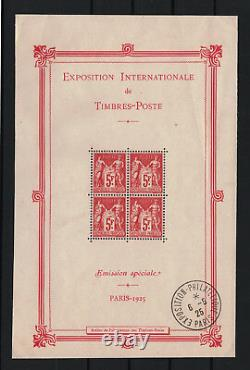 France Paris Exhibition Block Sheet 1b 1925 New With Stamp To See R525