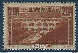 France Pont Du Gard No. 262b-type Iib Cauldron Fonçé Mailing Centering Freshness