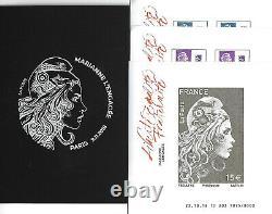 France Salon 2018 Set 10 Sheets Engaged Marianne F5248a/5254a-5257a/5258b