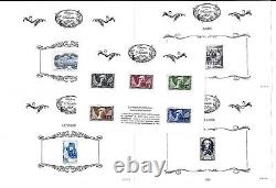 France Series 54 Treasures Sheets Of The Philately 2014 2015 2016 2017 2018