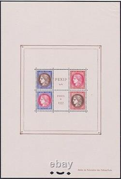 France Stamp Timbre Block Feuillet 3 Pexip 1937 Neufxx Tb Valeur 800 See