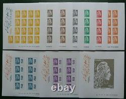 France-box Marianne The Engagee-10 Blocks Sheets Imperforates Lounge Autumn