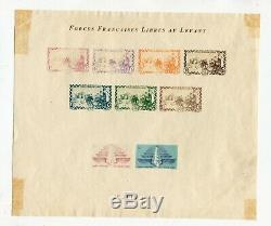 Levant Miniature Sheet No. 2 Forces Francaises Free Nine Without Gum In The State