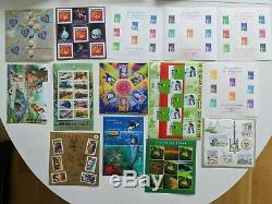 Lot 102 Blocks / Sheets New France From 1988 To 2009 Excellent Condition, Facial Close