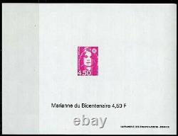 Marianne Of The Bicentennial Briat 1996 3005-3007 The 3 Undented Sheets Erased