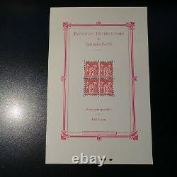 Miniature Sheet N ° 1 Exhibition From Paris 1925 Neuf Luxe Mnh Riviera 5500