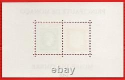 Monaco Feuillet Block N° 58 A Without Stamp On Side 1500 Neuf Sup Signed