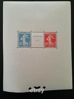 New France Stamp Block N2. I