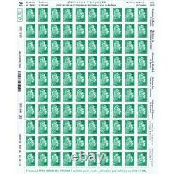 New Sheet 100 Stamps Marianne The Committed Overloaded 1970-2020