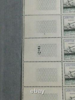 Rare Whole Sheet No. 1162 Jousts With Double F-luxury Variety Odds