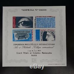 Round Deluxe Stamp Not Serrated Imperf Miniature Sheet No. 7 No. 1834/1837 1975