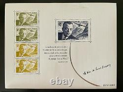 Saint Exupery 2021 Numerote 8000 Ex Lot Of 3 Blocks Sheets