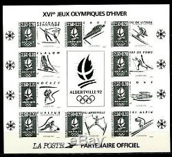 Stamp Block 14b Albertville France Oj No Serrated In Black New Luxury Score 500