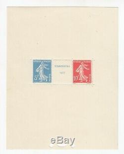 Stamp Stamp France Miniature Sheet Y & T # 2 Strasbourg New / Mnh-mint 1927 R39