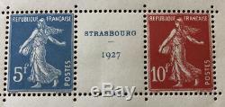 Stamps Block 2 Strasbourg 1927 Nine