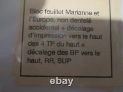 Stamps France Yt F4614 Nine N. Dentele Accidental Rare Tb