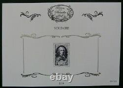 The 11 Leaflets With Voltaire No. 854 Treasures Of The Philately Year 2018