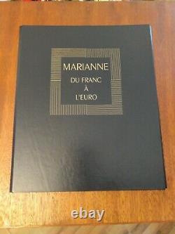-rare- Marianne Du Franc A Euro. Tryptique Emis In 2002. Limit Draw
