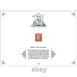 11 Feuillets PATRIMOINE DE FRANCE 2019 en timbres dont 1 franc vermillon