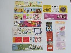 11 carnets de timbres de 2014 - Valeur faciale = 138,03 euros