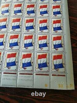15 Planches de Timbres Français N° 13 Franchise Militaire Drapeau 1964 NEUVE